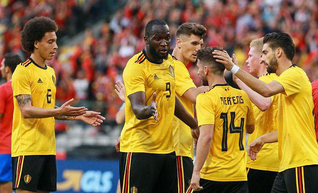 热身-卢卡库2投1传球阿扎尔助攻比利时4-1比分逆转获